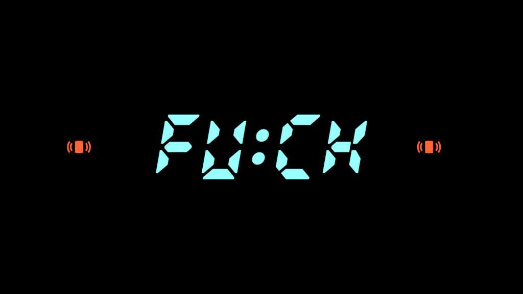 Fuck Clock Alarm